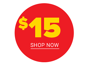 Our best clearance prices are here! $15 Shop Now.