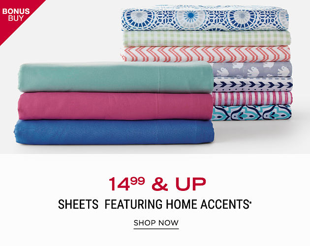 2 stacks of folded bed sheets. $14.99 & up sheets featuring Home Accents. Shop now.