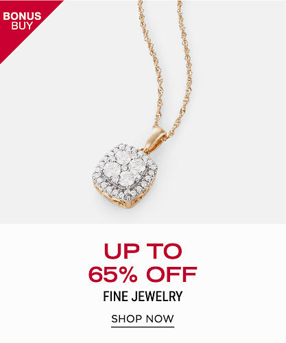 A gold & diamond pendant necklace,. Bonus Buy. Up to 65% off fine jewelry. Shop now.