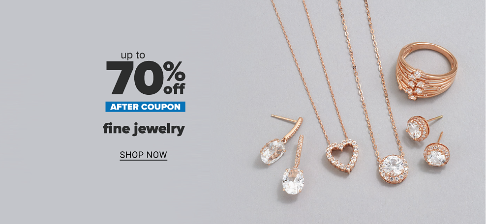 A variety of rose gold necklaces. Up to 70% off after coupon fine jewelry, shop now.