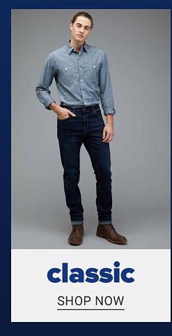 Classic fit. Shop Now.