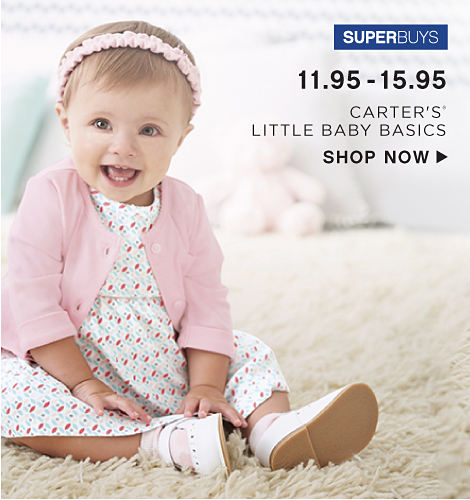 SuperBuys - 11.95-15.95 Carter's Little Baby Basics - Shop Now