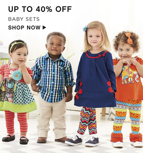 Up to 40% off Baby Sets - Shop Now