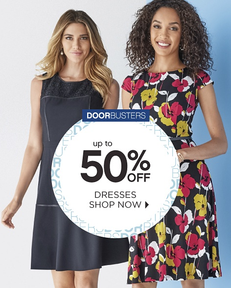 Doorbusters - Up to 50% off Dresses - Shop Now
