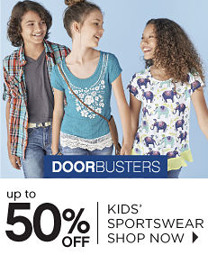 Doorbusters - Up to 50% off Kids' Sportswear - Shop Now