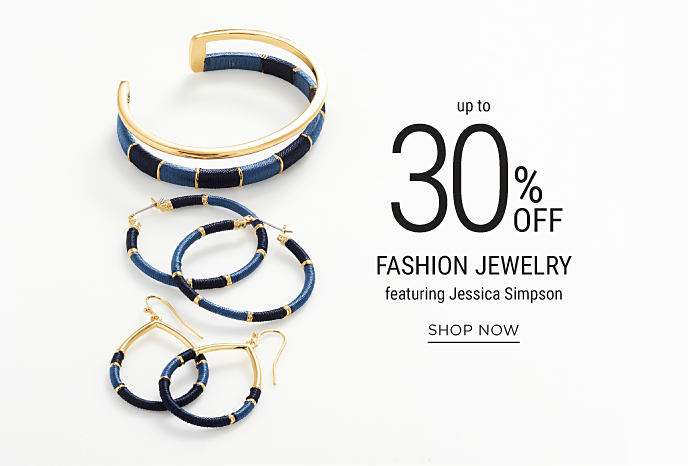 An assortment of black, blue and gold earrings and bracelets from Jessica Simpson. Up to 30% off fashion jewelry featuring Jessica Simpson. Shop now.