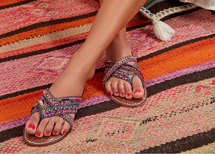 A pair of bohemian-inspired sandals. Up to 50% off designer shoes featuring Sam Edelman. Shop now.