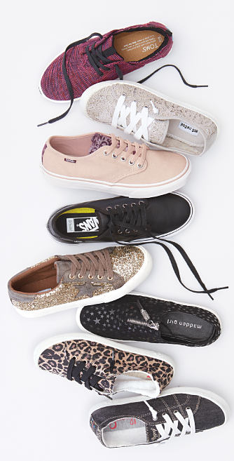 An assortment of fashion sneakers. Shop fashion sneakers.