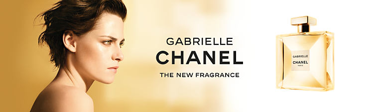 A bottle of Chanel Gabrielle fragrance. Gabrielle Chanel. The new fragrance.