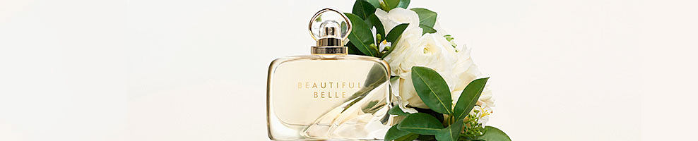 Fall head over heels in love with Estee Lauder's new fragrance, Beautiful Belle. An irreverent blend of Lychee, Orange Flower, Gardenia and Marzipan Musk. Love breaks all rules.