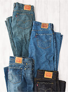 A selection of men's jeans.
