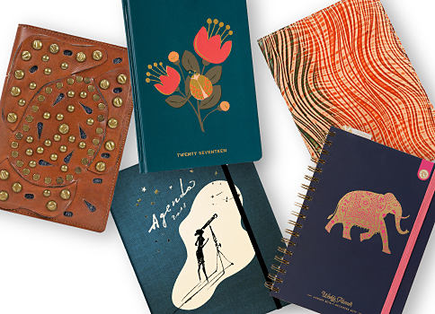 An assortment of journals. Shop stationery & gifts.