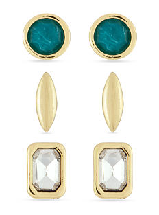 3 pairs of fashion earrings. Shop fashion earrings.