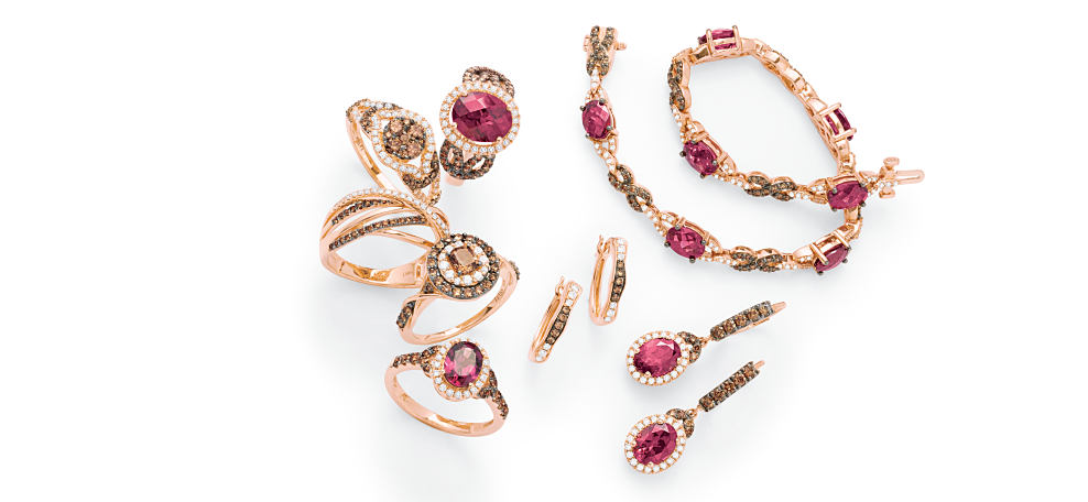An assortment of Le Vian fine jewelry Brand Spotlight: Le Vian. Shop now.