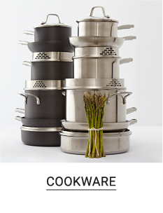 Two different styles of pots & pans. Shop cookware.