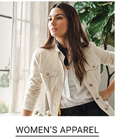 Shop women's apparel.