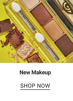 An assortment of makeup. New Makeup. Shop now.
