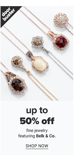 An assortment of gold, diamond & chocolate diamond pendant necklaces. Doorbuster. Up to 50% off fine jewelry featuring Belk & Co. Shop now.