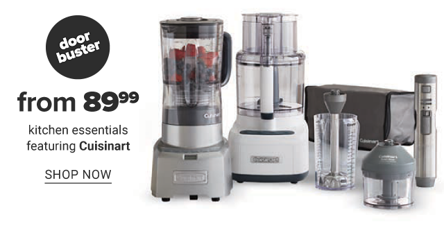 A blender, a food processor & other small kitchen appliances. Doorbuster. From $89.99 kitchen essentials featuring Cuisinart. Shop now.