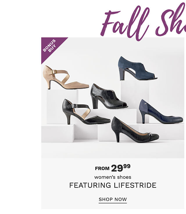 An assortment of women's heels in a variety of colors & styles. Bonus Buy. From $29.99 women's shoes. Shop now.