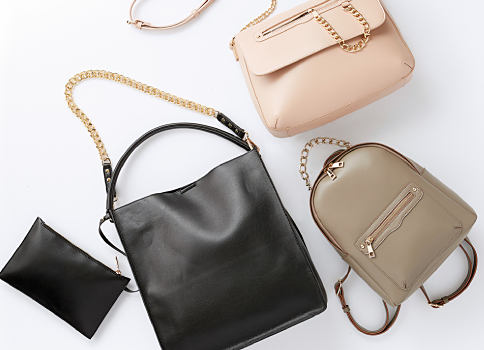 An assortment of handbags in a variety of styles. Shop handbags & accessories.
