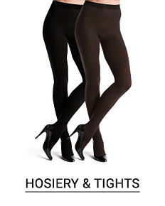 An assortment of tights in a variety of colors, prints and styles. Shop hosiery and tights.