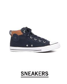 A black low top sneaker. Shop sneakers.