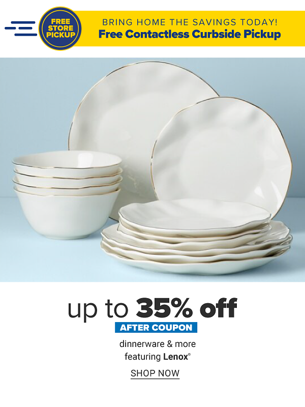 Up to 35% off after coupon dinnerware & more featuring Lenox. Shop Now.