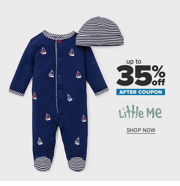 Up to 35% off after coupon Little Me. Shop Now.