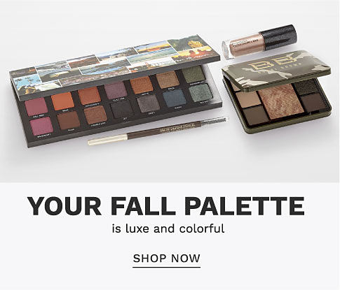 Two makeup palettes and 2 other makeup products. Your fall palette is luxe and colorful. Shop now.