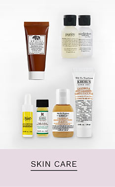 A variety of skincare products. Shop skin care.