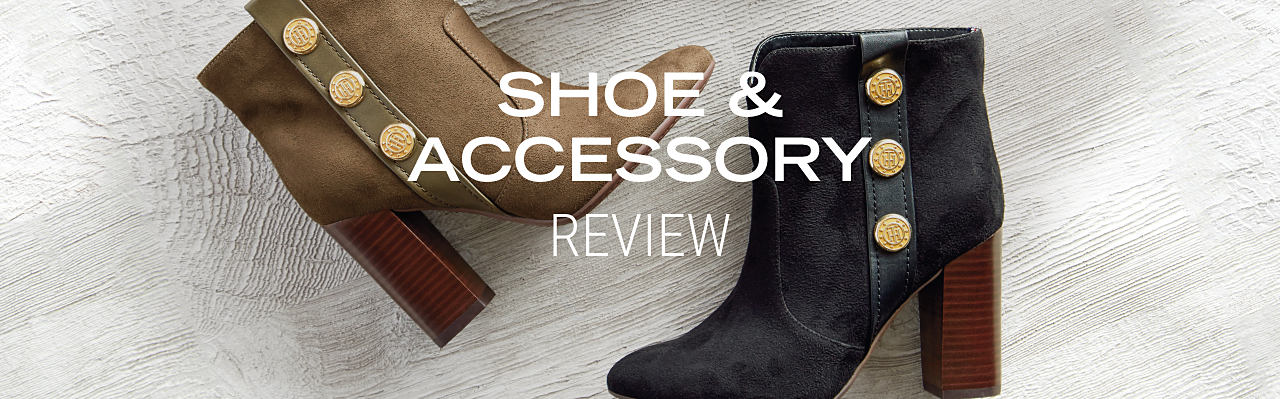 A brown suede womenls boot & a black suede women's boot. Shoe & Accessory Review. Shop designer ahoes.