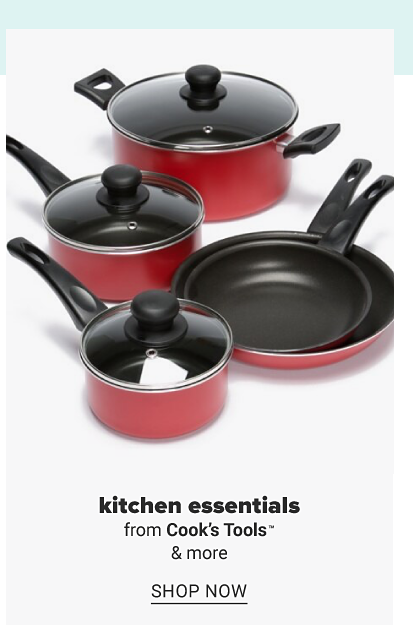 A collection of red pots and pans. Kitchen essentials from Cook's Tools and more. Shop now.
