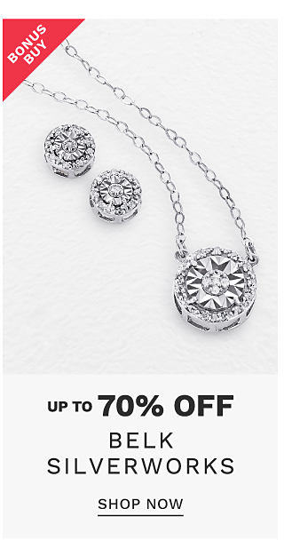 A silver & cubic zirconia heart shaped pendant necklace. Bonus Buy. Up to 70% off Belk Silverworks. Shop now.
