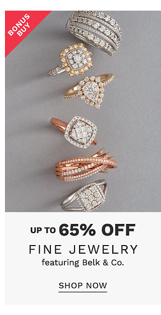 An assortment of gold & silver diamond rings. Bonus Buy. Up to 65% off fine jewelry featuring Belk & Co. Shop now.