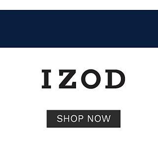 Top trending brands. IZOD. Shop now.