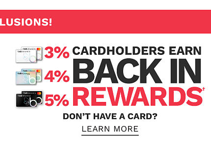No Brand Exclusions. Cardholders earn 3% back in rewards with Belk Rewards credit card, 4% back in rewards with Belk Premier credit card & 5% back in rewards with Belk Elite credit card. Don?t have a card? Learn more.