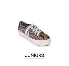 A snake print fashion sneaker. Shop juniors.