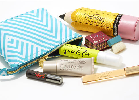 An assortment of beauty products & zippered makeup bags. Beauty. Shop now.