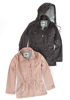 A pink jacket & a gray jacket. Shop jackets & coats.