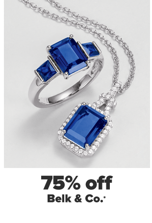 A matching sapphire ring and pendant set. 75% off Belk and Co.