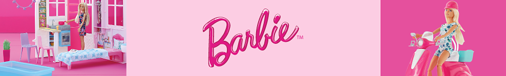 An assortment of Barbie dolls & Barbie play sets. Barbie.