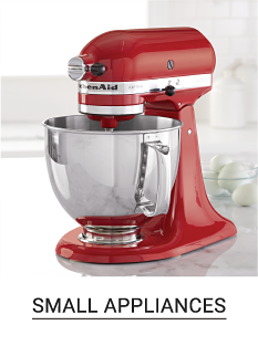 A red mixer with a mixing bowl. Shop small appliances.