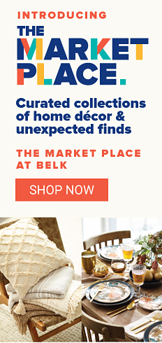 Introducing the Marketplace. Curated collections of home decor and unexpected finds. The Marketplace at Belk. Shop Now.