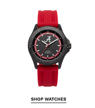 A red, black and whtie Alabama Crimson Tide watch. Shop watches