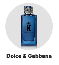 A blue bottle of Dolce and Gabbana cologne. Dolce and Gabbana.