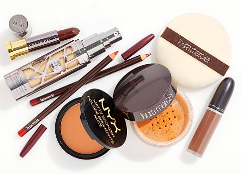 An assortment of matte lipstcks, makeup pencils & powders. Matte Makeup. The perfect fall finish. Shop now.