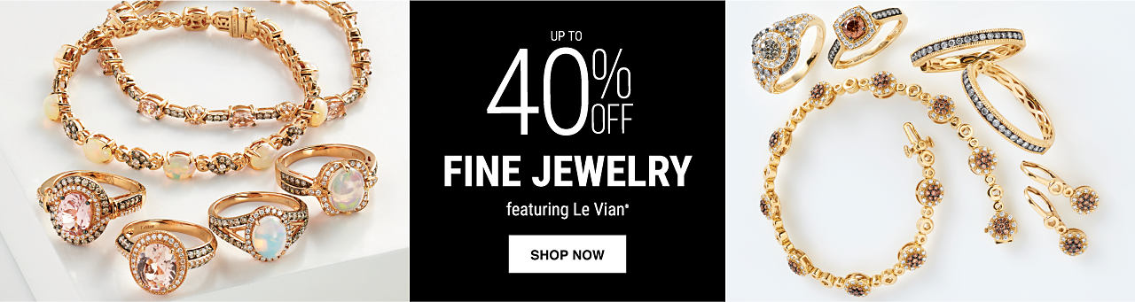 An assortment of fine jewelry rings, necklaces & earrings. Up to 40% off fine jewelry fe4aturing Le Vian. Shop now.