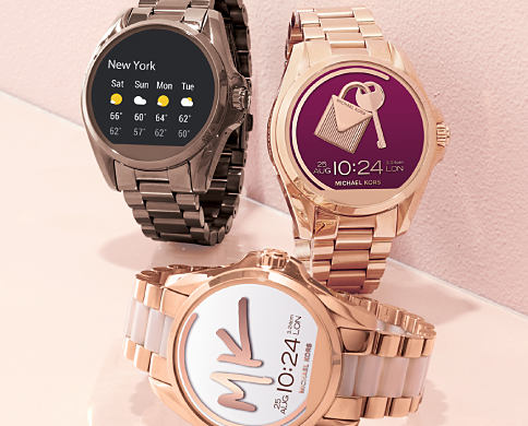 An assortment of smart watches. Keep connected with smart watches. Shop now.
