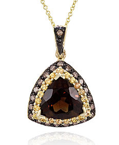 A gold, diamond & chocolate diamond pendant neclace. Shop fine jewelry necklaces.